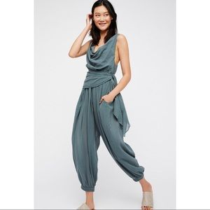 Free People 'Ok, so this' jumpsuit in green